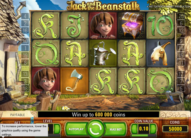 Jack and the beanstalk spel